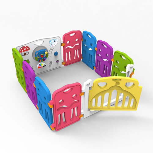 Colorful safety plastic baby playpen, baby play yard, baby play fence
