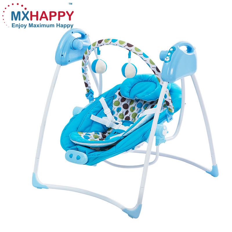 China manufacture direct wholesale cheap price Automatic Electric baby cradle swing with music