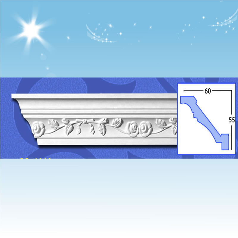 China Carving Cornice PU Moulding, PU Decoration Building Material supplier
