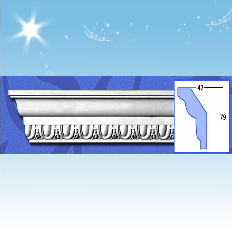 plastic cornice moulding ,China Manufacturer QC-1027
