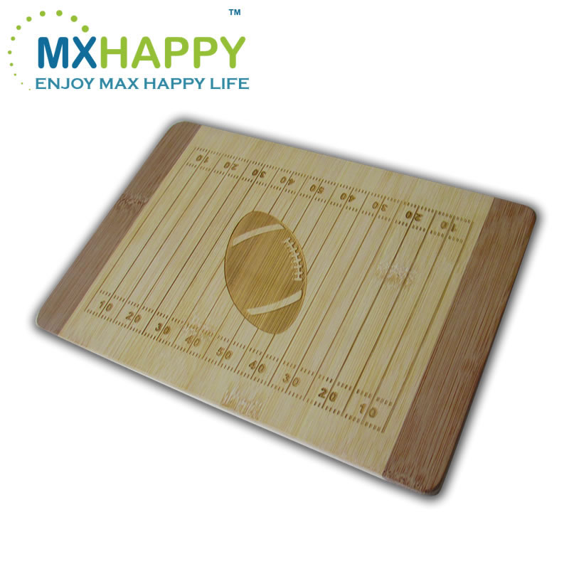 Bamboo Football Board custom made,Football cheese board Rugby American football