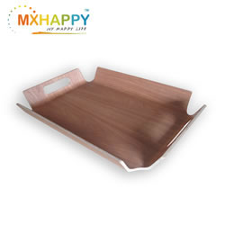 Mxhappy Plywood Bent Wood Food Serving Tray Coffee Tray With Hand 17.5 X 13.2 Inch