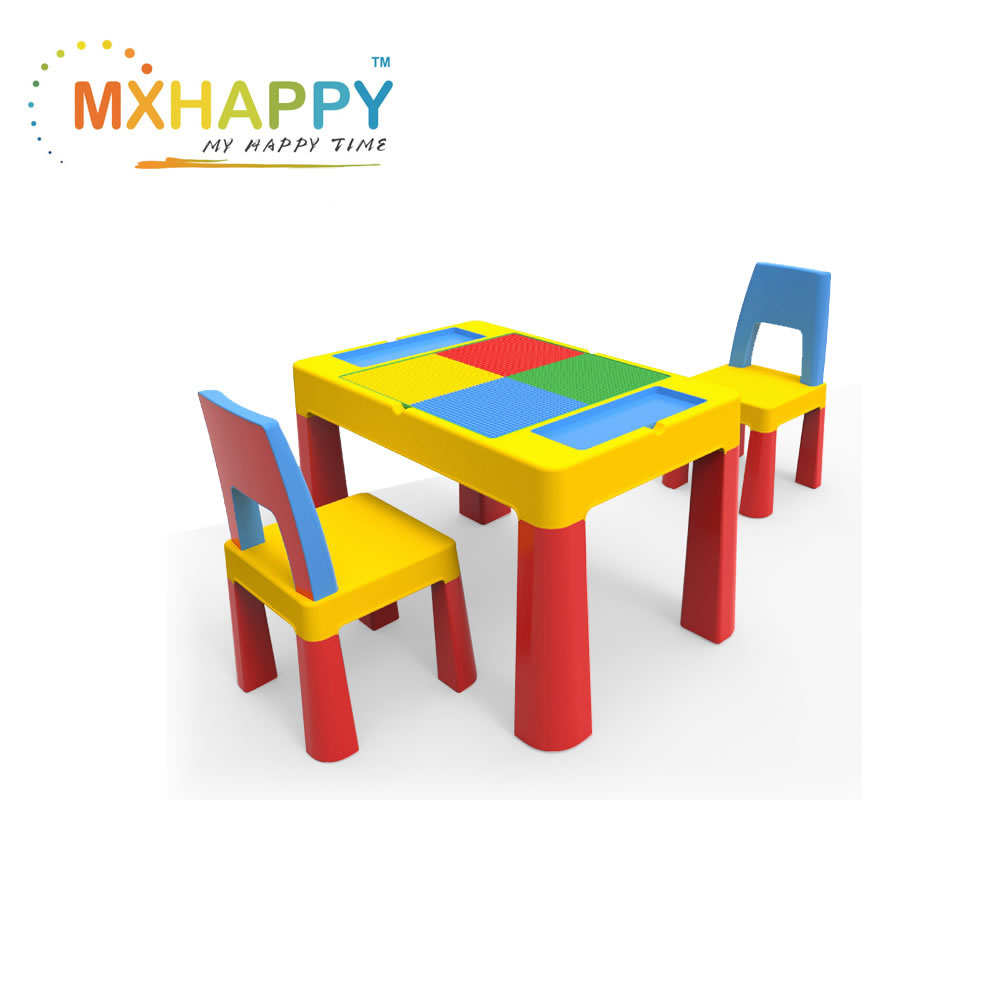 Multifunctional Lego Block Desk Table Chair Wholesales Factory Manufacturer