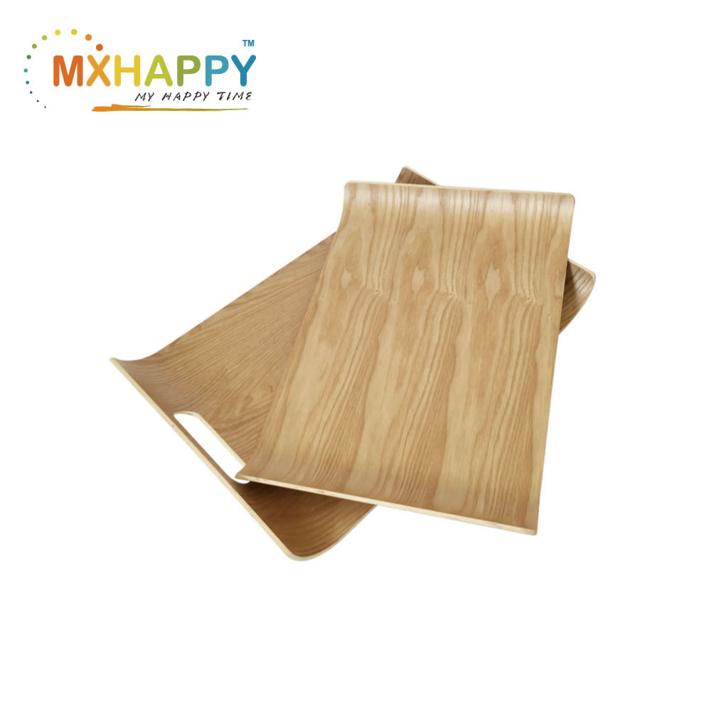 View:Mxhappy Plywood Bent Wood Food Serving Tray Coffee Tray Wholesales