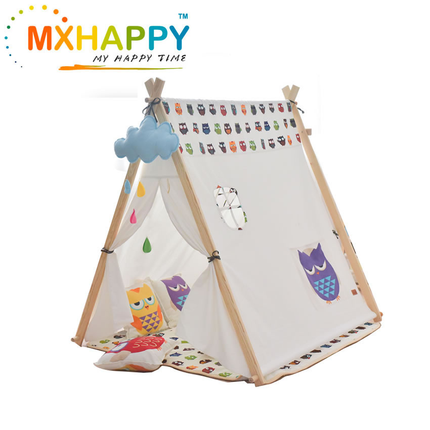 View:Kids Teepee Tent Canvas Teepee for Kids