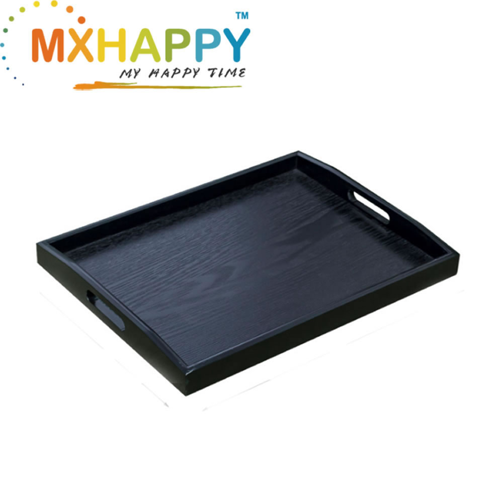 View:Black Wood Food Serving Tray