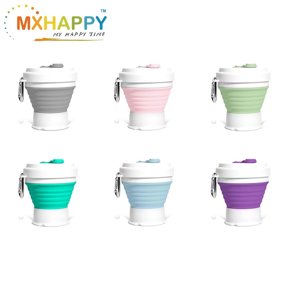 Silicone Collapsible Coffee Cup Foldable Water Cup 350ml Bottles