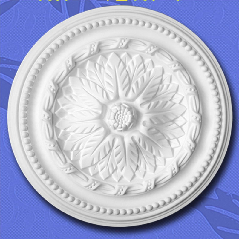PU decorative ceiling foam roses / ceiling medallion for lampholder